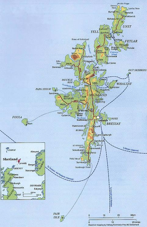 carte shetland