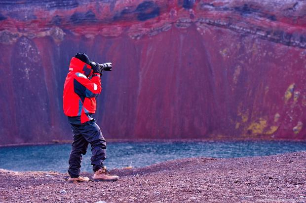 Arthur, ton sur ton, Landmannalaugar, Islande