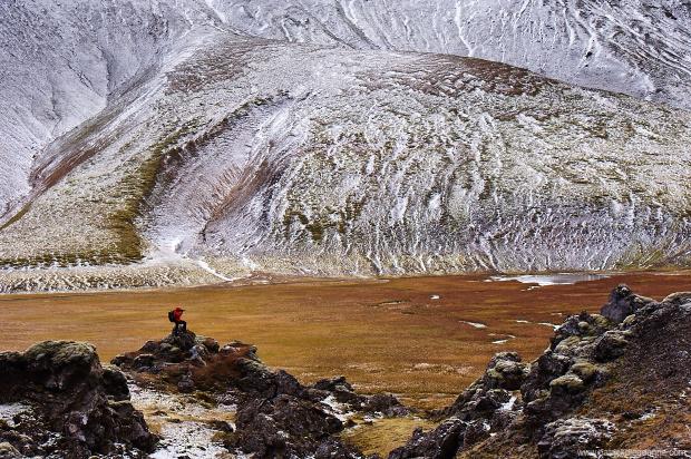 Marc dans le Landmannalaugar