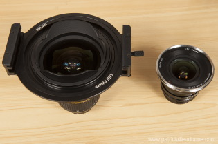 Comparaison taille 14-24 Nikon et filtre - Zeiss 18 mm