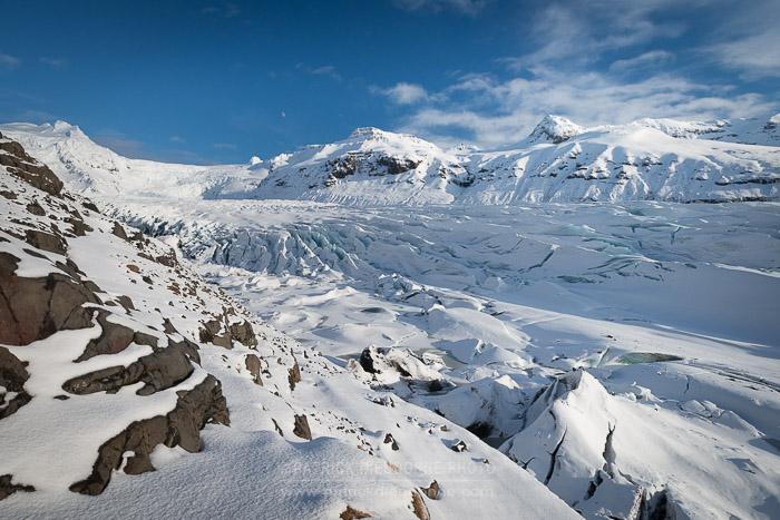 Grands glaciers de Skaftafell National Park (Svinafellsjokull)