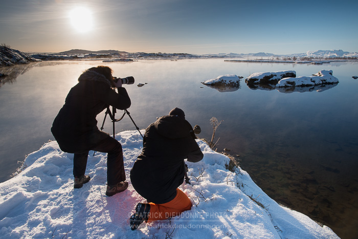 Photographes à Thingvellir, sous un beau soleil...