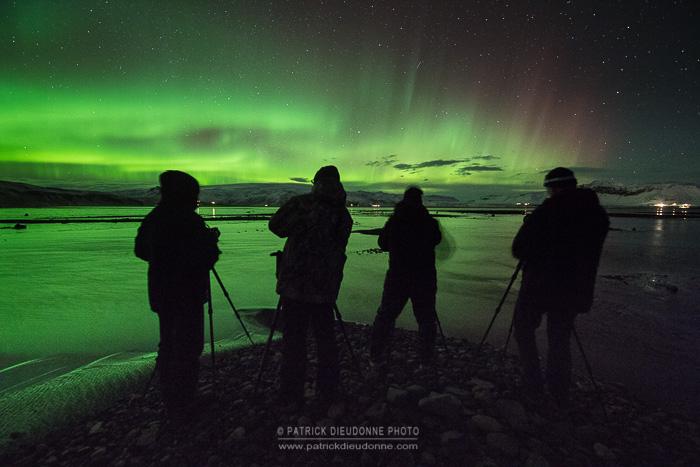Photographes et aurore boréale, Islande
