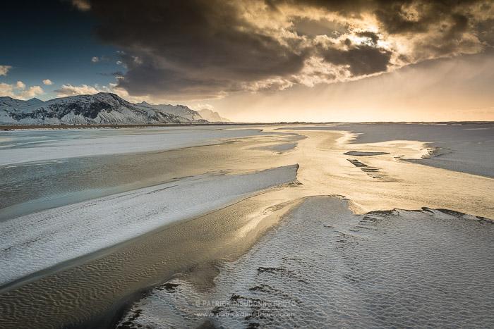 Grandes plages près de Höfn, Islande