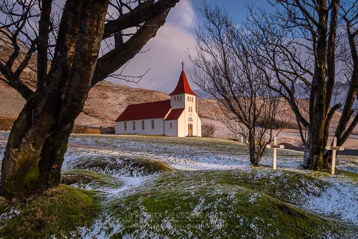 Eglise sur la côte sud, Islande