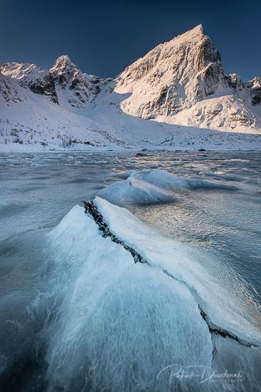 Fjord glacé, Lofoten.
