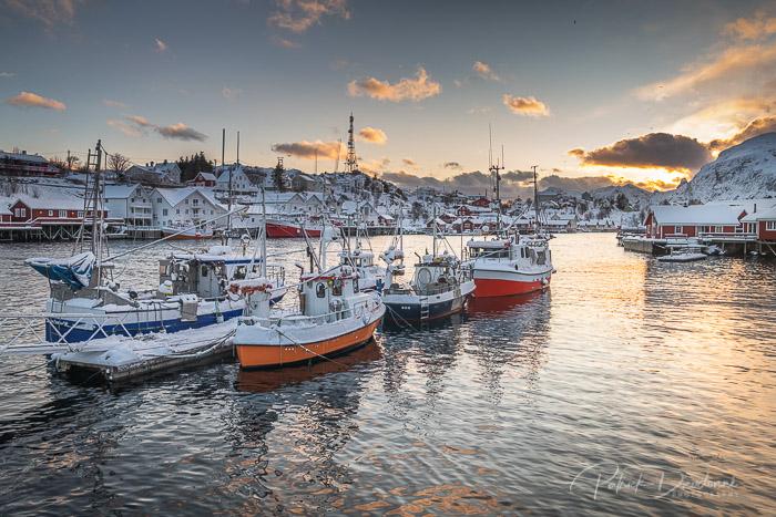 Port de pêche, près de Moskenes, Lofoten