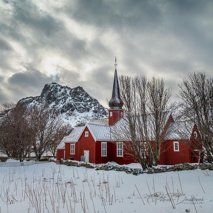 Eglise, Flakstadoya, Lofoten.